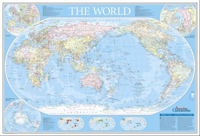 Woodslane publisher australian geographic world map australia centred fold out by author australian geographic gumiabroncs Choice Image